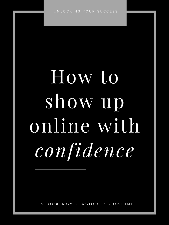 How to sell yourself with confidence online